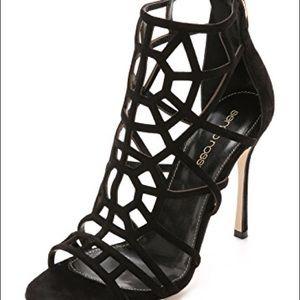 Sergio Rossi Puzzle Black Suede High Heel 36.5